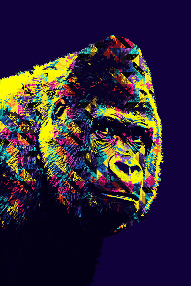 Gorilla Bauwi (Pop Art Photoshop Action)